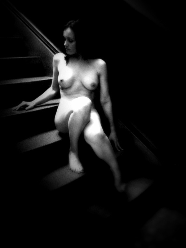 Nude on staircase