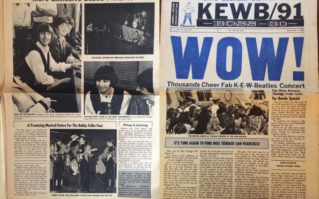 {audioboo} 1965 SF Radio Station KEWB Weekly Newsletter: Top 30, Beatles, Etc.