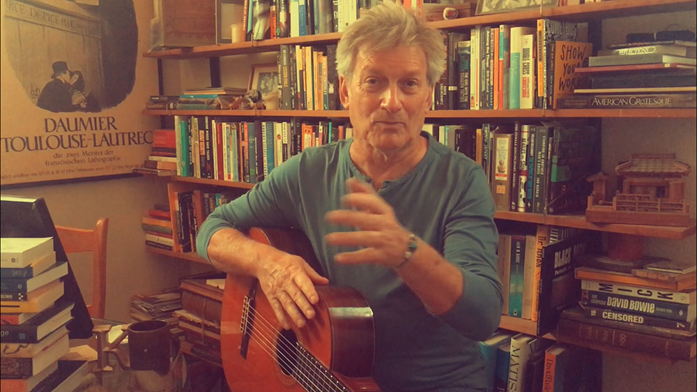 "{podcast} My inaugural YouTube Videocast, Performing David Bowie's ""Word On A Wing."""